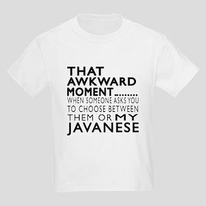 Awkward Javanese Cat Designs Kids Light T-Shirt