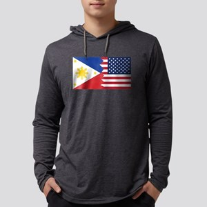Filipino American Flag Long Sleeve T-Shirt