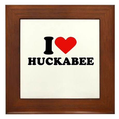 I Heart Huckabee Framed Tile