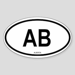 Alberta Oval Sticker