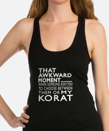 Awkward Korat Cat Designs Racerback Tank Top