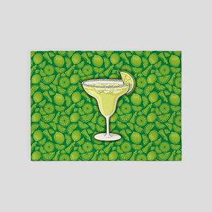 Margarita cocktail 5'x7'Area Rug