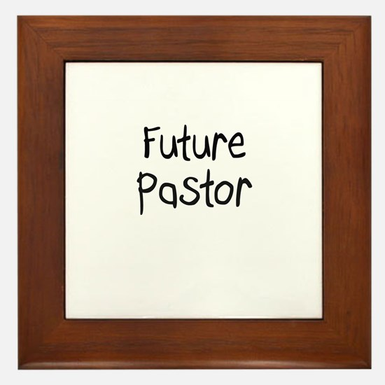 Future Pastor Framed Tile