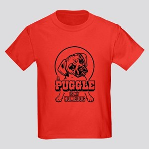 PUGGLE Is My Homedog Kids Dark T-Shirt