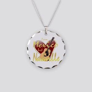 Love Nashville from Mexico Necklace Circle Charm