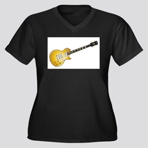 Gold Top Guitar Plus Size T-Shirt