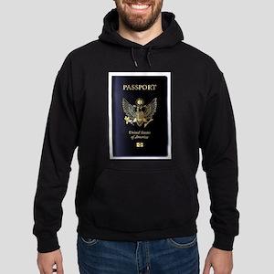 United States of America Passport Hoodie (dark)