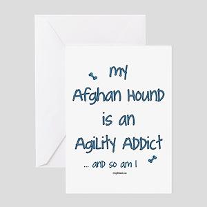 Afghan Hound Agility Addict Greeting Card