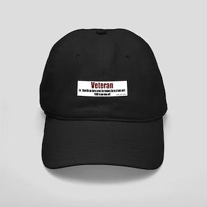Veteran Definition Black Cap