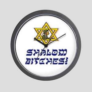 Shalom Bitches! Wall Clock