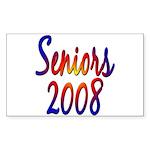 Seniors 2008 Rectangle Sticker
