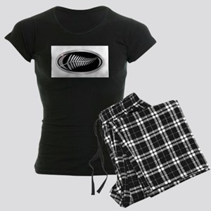 New Zealand Silver Fern Butt Women's Dark Pajamas