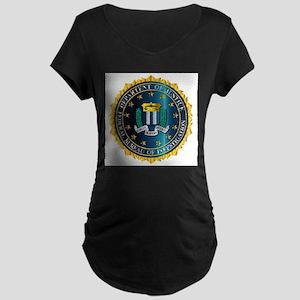 FBI Seal Mockup Maternity T-Shirt