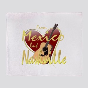 Love Nashville from Mexico Throw Blanket