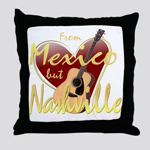 Love Nashville from Mexico Throw Pillow