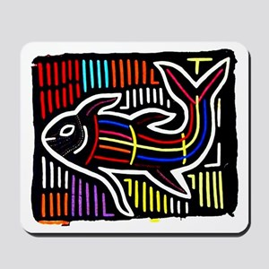 Mola Whale, Kuna art from San Mousepad