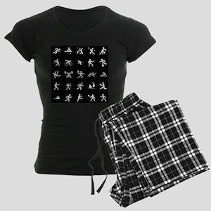 Sport Icons Women's Dark Pajamas