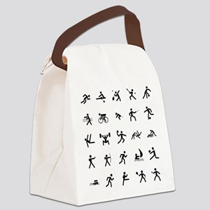 Sport Icons Canvas Lunch Bag