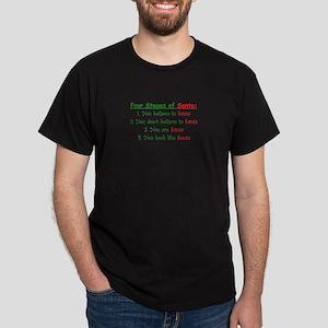Stages of Santa Dark T-Shirt