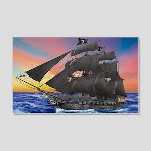 Black Beard's Pirate Ship Wall Decal