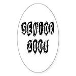 Senior 2008 Oval Sticker