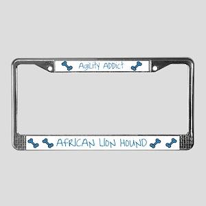 African Lion Hound Agility Addict License Plate Fr