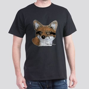 Fox Portrait Design Dark T-Shirt