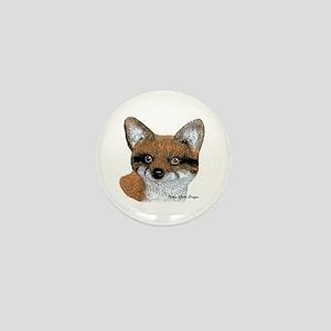 Fox Portrait Design Mini Button