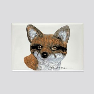 Fox Portrait Design Rectangle Magnet