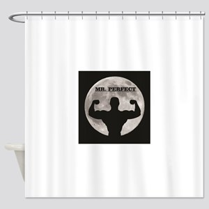 Mr perfect in the moon Shower Curtain