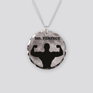 Mr perfect in the moon Necklace Circle Charm