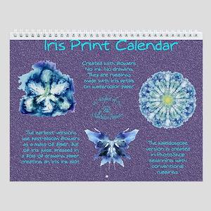 Iris Print Wall Calendar