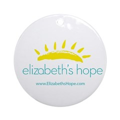Elizabeths Hope Logo Round Ornament