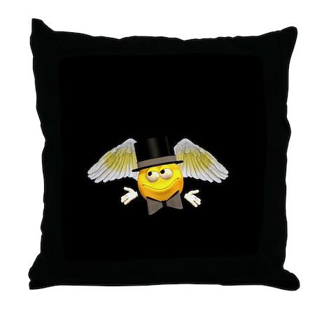 Tuxedo Angel Throw Pillow