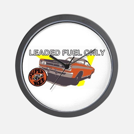 Leaded Fuel Only Wall Clock