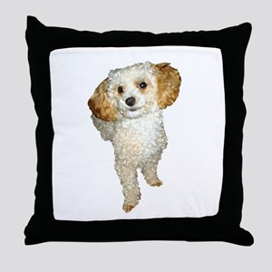 Apricot Poodle Painting Throw Pillow