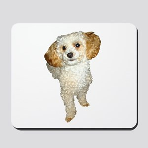 Apricot Poodle Painting Mousepad