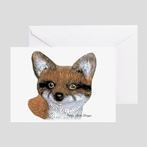 Fox Portrait Design Greeting Card