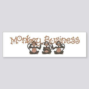 Monkey Business<br> Bumper Sticker