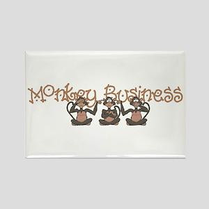 Monkey Business<br> Rectangle Magnet