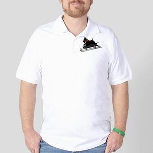 Scottish Terrier Sledding Golf Shirt