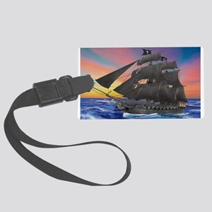 Black Beard's Pirate Ship Luggage Tag