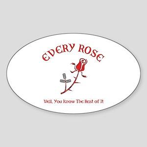 Every Rose Oval Sticker
