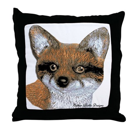 Fox Portrait Design Throw Pillow