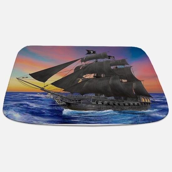 Black Beard's Pirate Ship Bathmat