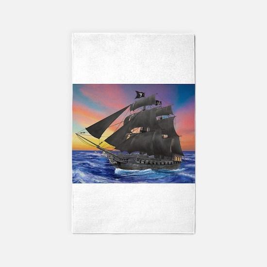 Black Beard's Pirate Ship Area Rug