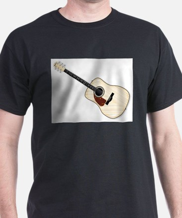 Left Handed Acoustic Guitar T-Shirt