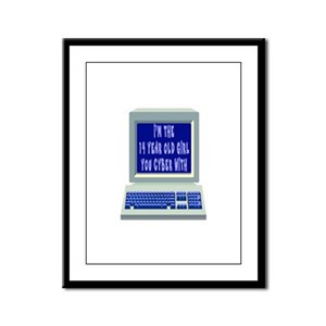 I'm THE 14 YEAR OLD YOU CYBER Framed Panel Print