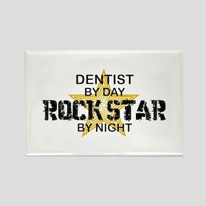 Dentist RockStar by Night Rectangle Magnet