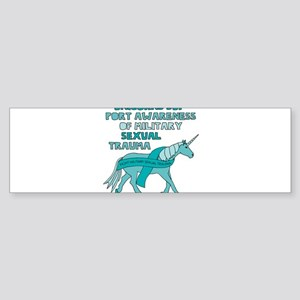 Unicorns Support Awareness Of Milit Bumper Sticker